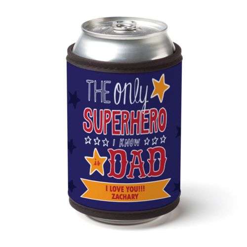 Superhero Dad Personalized Can and Bottle Wrap